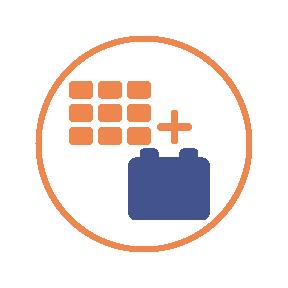 Solar plus storage icon
